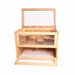 2 Tier Wooden Hamster Cage Gerbil Mouse Mice Small Pet Anima