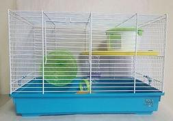 HAMSTER CAGE GREG 2 LEVEL WITH WHEEL, HOUSE AND FOOD DISH