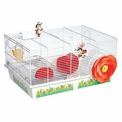 MidWest Homes for Pets Hamster Cage | Lovely Ladybug Theme |