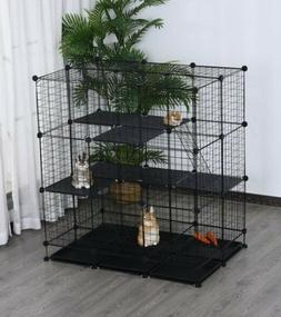 Hamster Cage Small Pet Playpen Bunny Chinchilla Exercise Tra