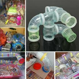 Hamster Cage T Shaped/Curved/Straight Glitter Tube Plastic /