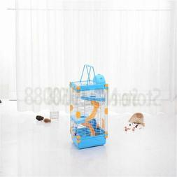 Hamster Cage Three Layer Castle Travel Carry Cages Small Pet