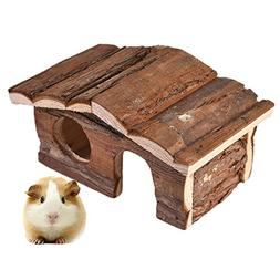 awtang Hamster Chewing Toy Natural Wooden House Safe Hideout