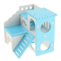 Hamster Deluxe House with Slide Small Animals Hideout Hut Ha
