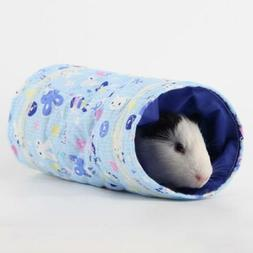 Hamster Guinea Pig Tunnel Tubes Toy Cage Bed Small Animals P