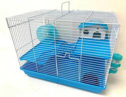 Hamster Habitat Cage 3-Levels Home House Running Wheel Roden
