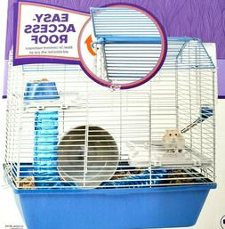 Hamster Hangout Cage Complete Set W/ Exercise Wheel, Tubes,