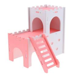 Hamster House Hideout Hideaway Exercise Toys for Rat,Dwarf