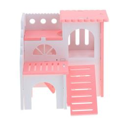 Hamster House with Slide Small Animals Hideout Hut Habitat C