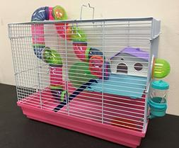 Hamster Mouse Gerbil Rat Small Animal Cage Two Levels