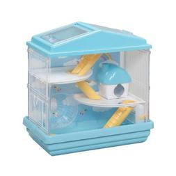 Hamster Playhouse Cage, HCK-412, Gerbil Hamster Cage, Blue