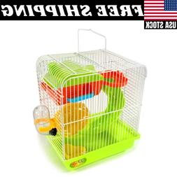 Hamster Small Rodent Cage Habitat Playhouse Gerbil Mouse Mic