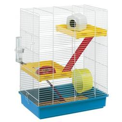 Ferplast Hamster Tris Cage With White Bars And Accessories