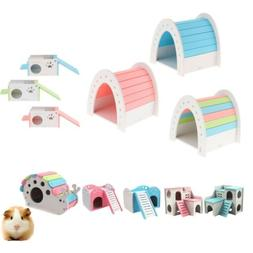 Hamster Wooden House Cage Accessories Rat Rabbit Gerbil Acti