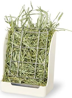 Hay and Food Bin Manger Rack Feeder With Clamp for Rabbit Gu