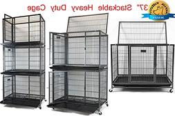 "New Homey Pet 37"" Heavy Duty Metal Dog Pet Crate Cage Kennel"