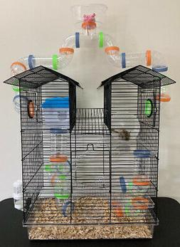 High Watch Tower Twin Roof Hamster Habitat Rodent Gerbil Mou