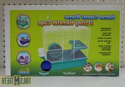 CritterWare Home Sweet Home 2-Story Hamster Cage -Perfect fo