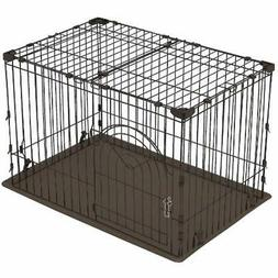 IRIS Basic Crates Medium Wire Deluxe Dog Cage Pet Kennels Su
