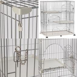 IRIS Wire Pet Cage/Cat Playpen GRAY 3 Tier