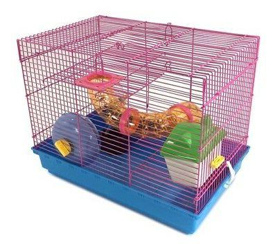 3 Hamster Cage Wheel Tubes House Gerbil Mice Trail Habitat