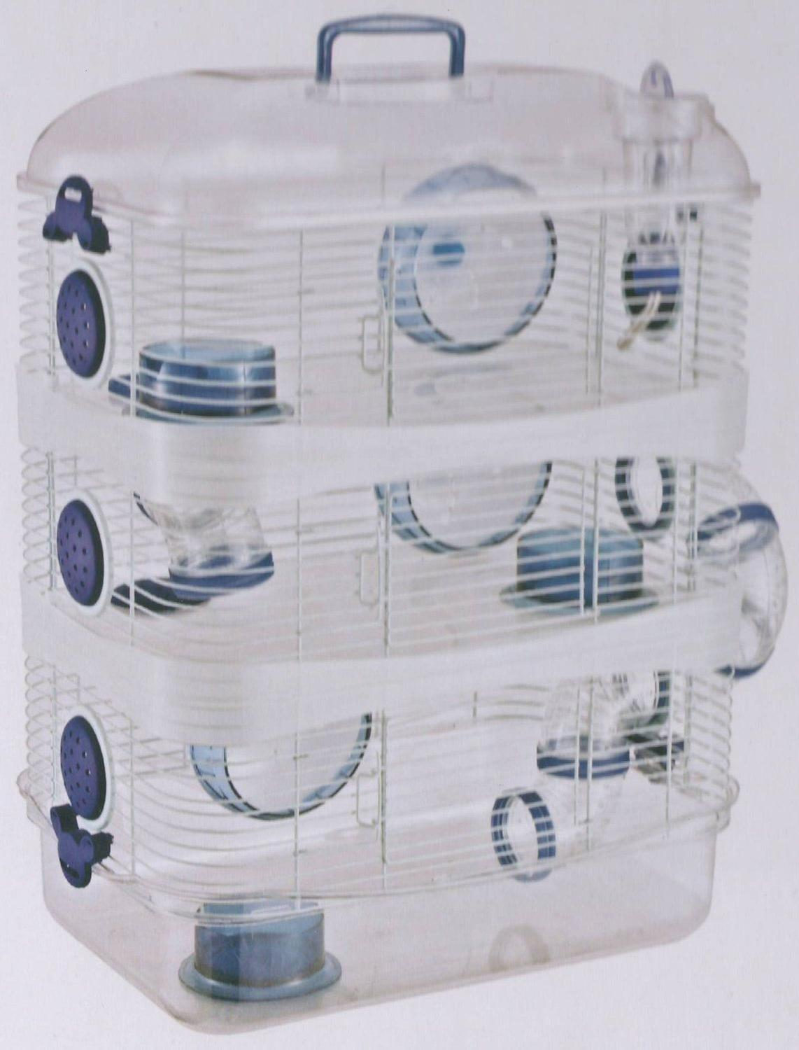 New 3 Hamster Gerbil Mouse Mice Trail Cage942