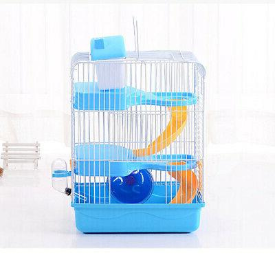 3-storey Hamster Luxury House Portable Home Habitat Decoration