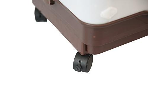 Homey Tiers Chinchilla Cage with Pull Guard Lockable Casters, Brown, W17 x