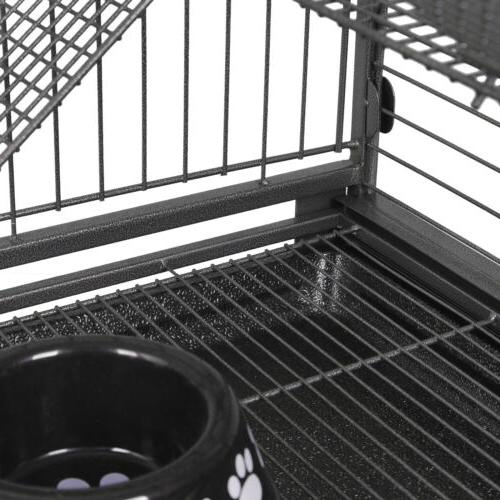 """4-Tier Cat Cage Powder Coated Hamster 37"""""""