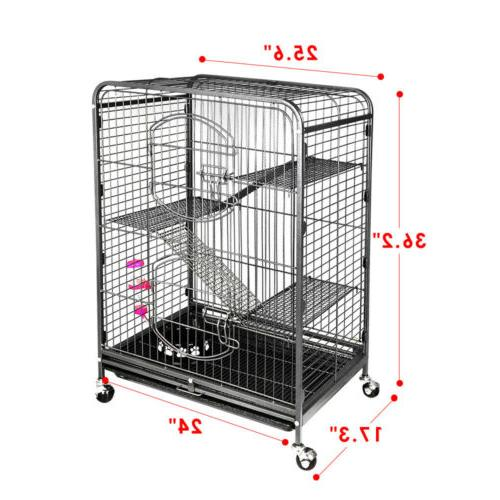4-Tier Ferret Cat Cage Powder Coated House for Hamster Guine