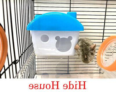 2-Floors Acrylic Clear Syrian Hamsters Mice Habitat Cage