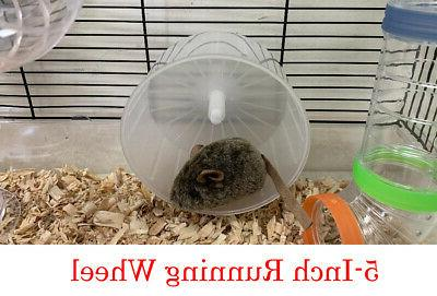 2-Floors Clear Syrian Hamsters Rodent Mice Cage