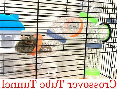 2-Floors Hamsters Rodent Gerbil Mice Cage