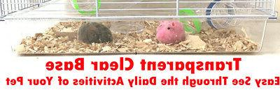 2-Floors Acrylic Hamsters Mouse Mice