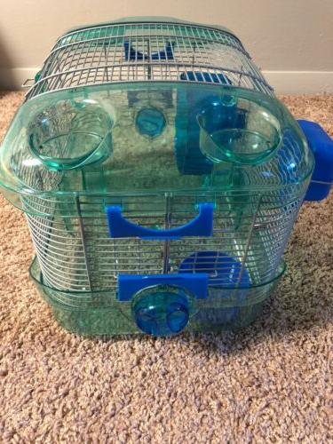 Blue critter trail cage mouse/hamster