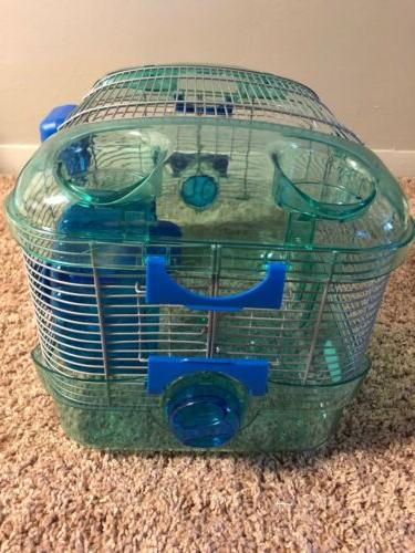 Blue critter cage small habitat mouse/hamster