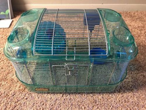 Blue kaytee cage small animal mouse/hamster