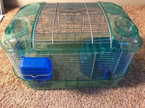 Blue kaytee trail cage animal mouse/hamster