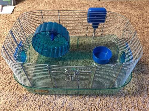 blue critter trail cage small animal habitat