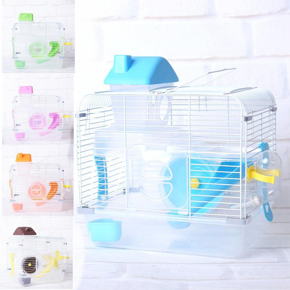 crystal pet cage hamster cottage double layer