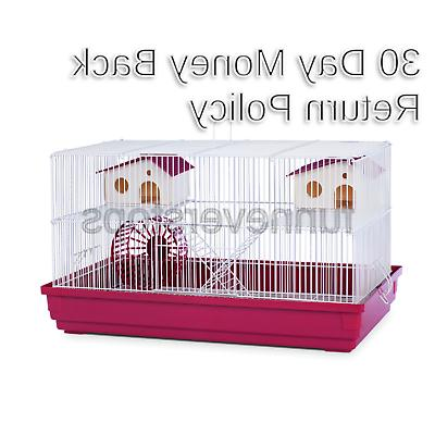 deluxe hamster and gerbil cage bordeaux red