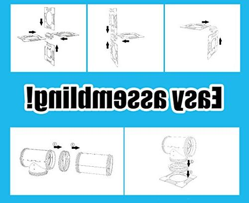 GNB DIY Hamster Tunnel Playground Platform for Hamster and Other Animals