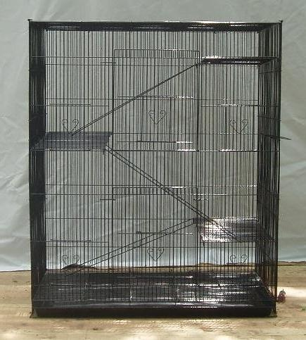 """New 4 Levels Small Animal or Bird 30""""Length x 36""""Height *Black*"""