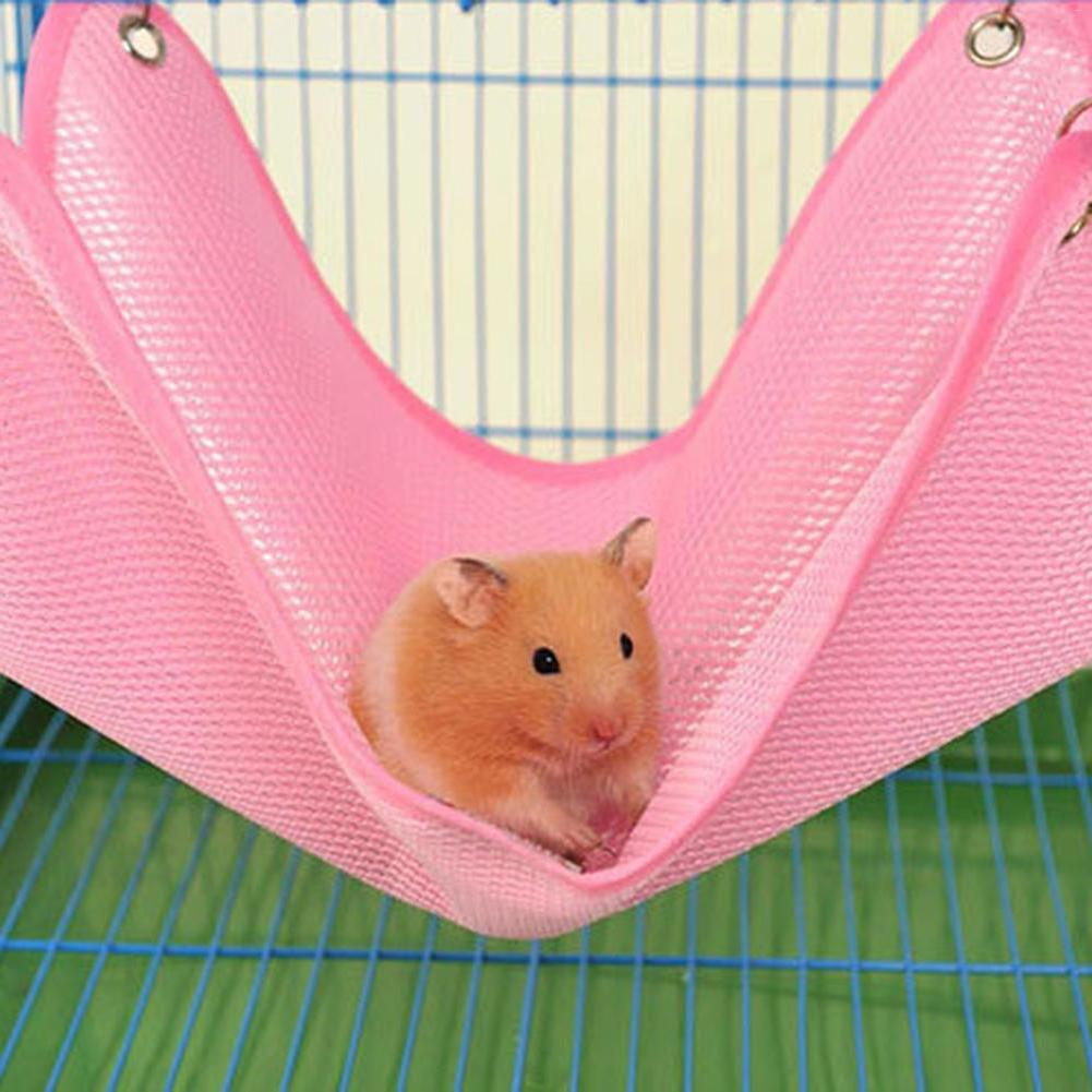 <font><b>Hamster</b></font> Hammock Rat Breathable Mesh Hammock <font><b>Small</b></font> Hanging Bed <font><b>Cage</b></font>