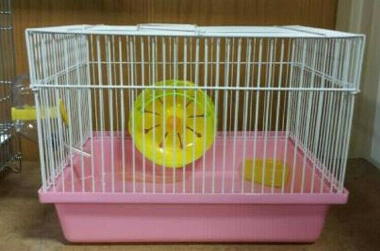 H166 HAMSTER CAGE COMES WATER WHEEL