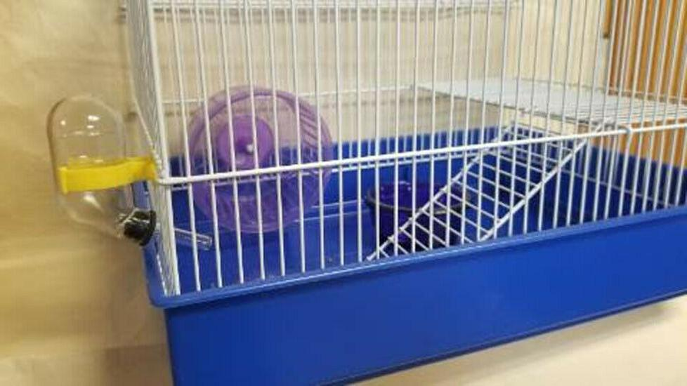 H810 -2 LEVEL CAGE COMES FOOD DISH TUBE