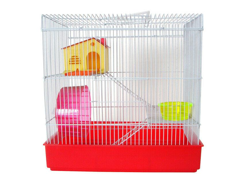 h820 3 level hamster cage red only