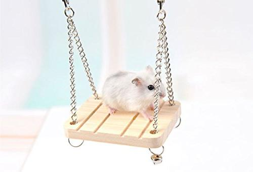 Hamster Swing Small Stand Accessories Small Toys Wooden Swing