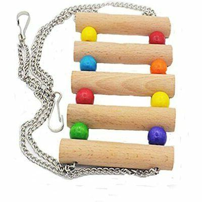 Wood Small Pet Ladder Stand Toys