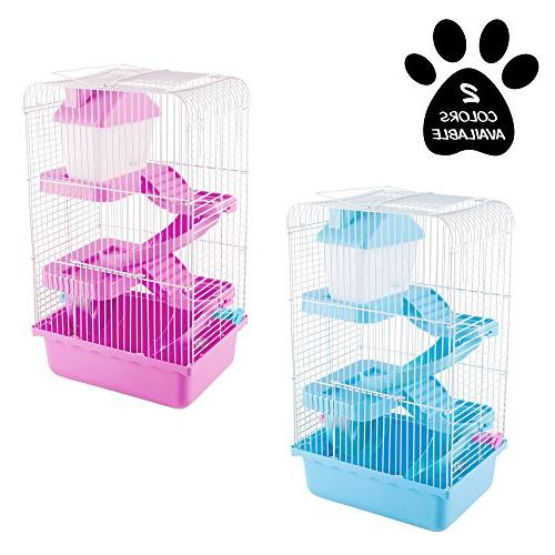 Hamster Cage Habitat, Small with Attachments/Accessories- Tunnel Wheel PETMAKER